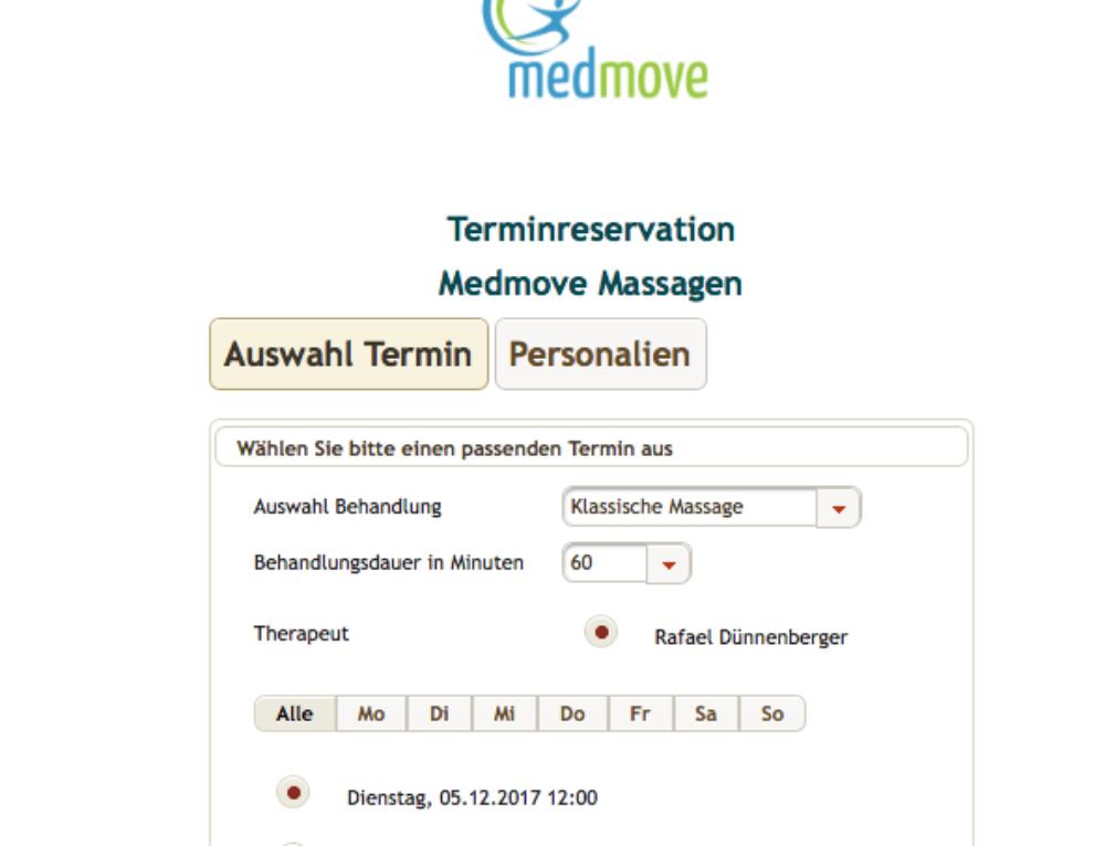Online Massage-Termine buchen